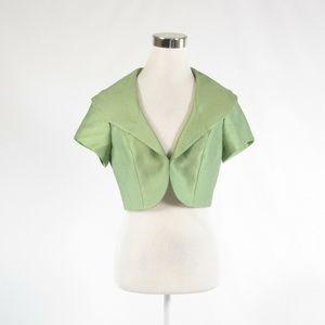 Kay Unger green cap sleeve bolero jacket 6
